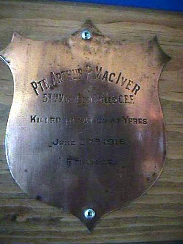 Memorial– Royal Canadian Legion Baddock