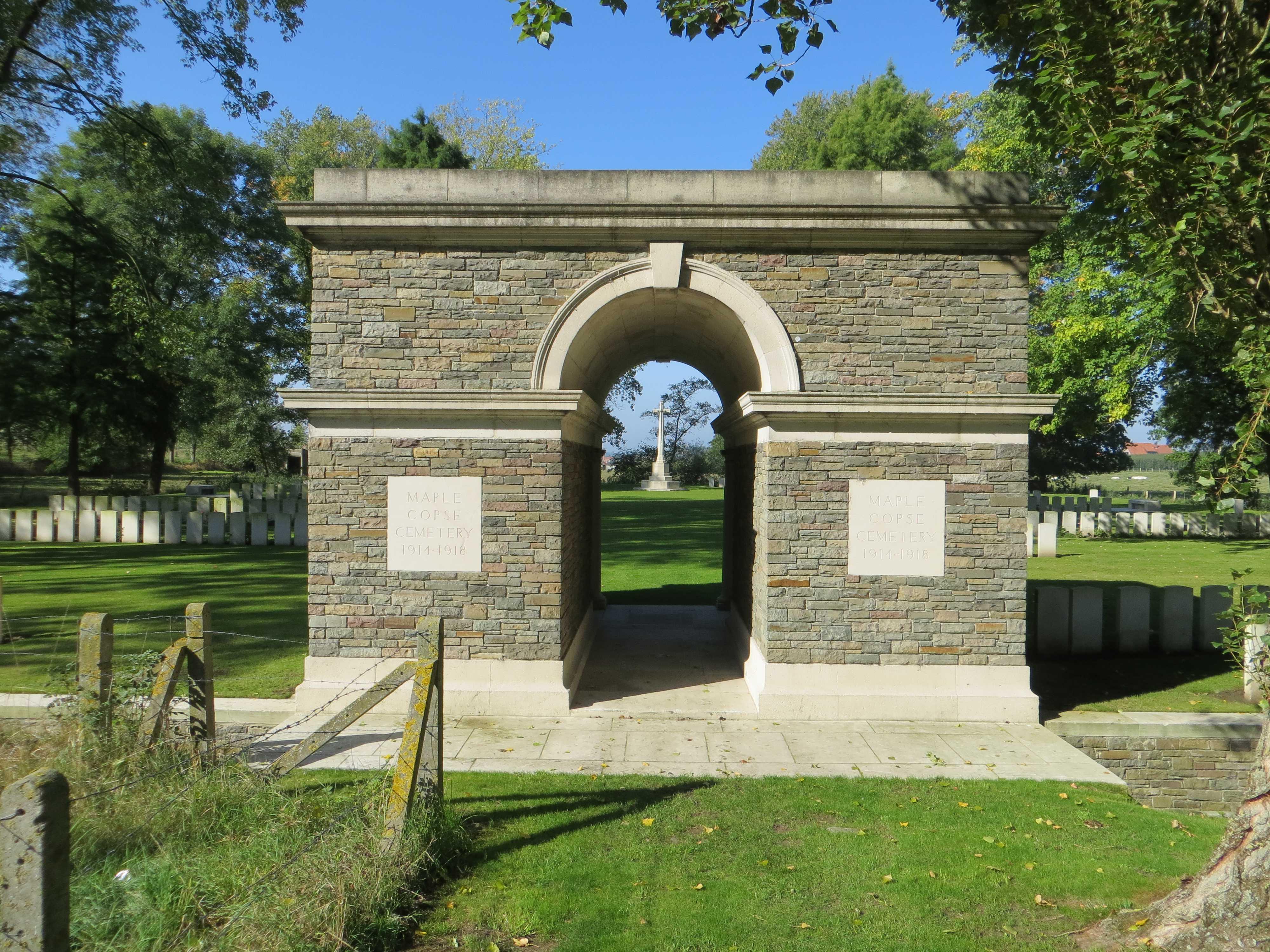Cemetery– Maple Copse Cemetery - September 2017