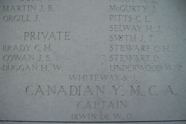 Inscription on Menin Gate– Inscription on the Menin Gate … photo courtesy of Marg Liessens