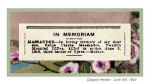 Newspaper clipping– In honoured memory