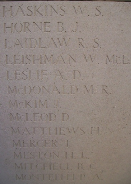 Inscription on Menin Gate– Inscription on the Menin Gate, photo courtesy of Marg Liessens.