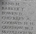 Inscription– Menin Gate panel where sergeant John Mould is commemorated.  Photo by BGen Young (ret) and submitted by Capt (ret) V Goldman of the 15th Bn Memorial Project.  DILEAS GU BRATH