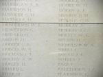 Menin Gate– Menin Gate panel where Private John Murray is commemorated.  Photo by BGen Young (ret) and submitted by Capt (ret) V Goldman of the 15th Bn Memorial Project.  DILEAS GU BRATH