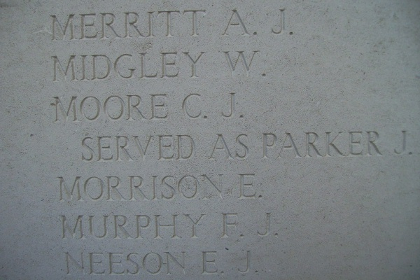 Inscription on the Menin Gate Memorial
