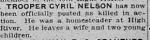 Newspaper clipping– The Calgary Daily Herald June 24, 1916
