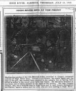 Newspaper clipping– HIGH RIVER TIMES JULY 13 1916