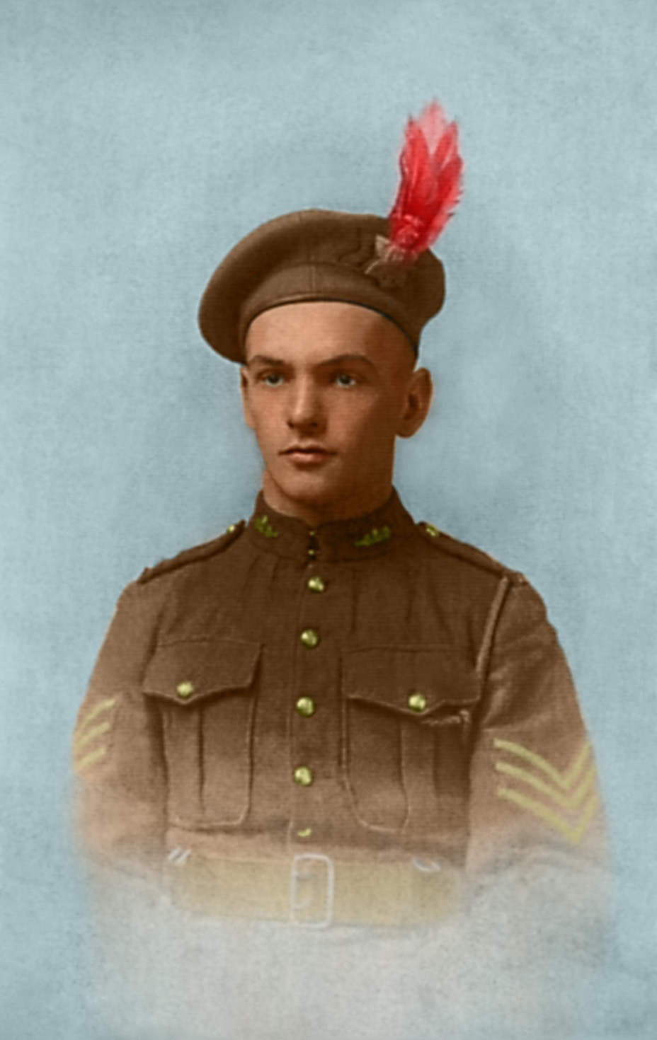Photo of FRANK ALBERT NELSON– colorized version