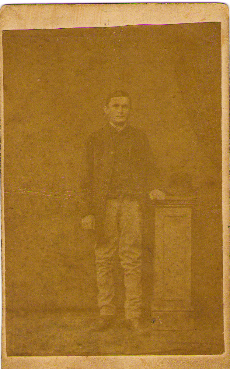 """Photo of Harry Newson– Photo inscribed on reverse """"Uncle Harry Newson"""". Believed to be Harry Newson born 1883 in Worlingworth, Suffolk, England, younger brother of my great grandfather, Arthur Newson, both sons of Harry & Matilda Newson."""