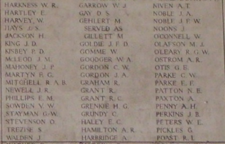 Memorial– Inscription on the Menin Gate - August 2012 … photo courtesy of Marg Liessens