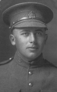 Photo of Arthur Cuthbert Parker– Arthur Cuthbert Parker was born Jan. 21, 1895,son of Frederick W. Parker,  in East Zorra Township. A farmer, at the time of his enlistment, on Feb. 1, 1916, he gave his address as RR 5, Embro. He died Nov. 10, 1917, at Paschendale, Belgium. His name is on a grave marker in North Embro Cemetery.  Source:  Heroes of Zorra Web Site