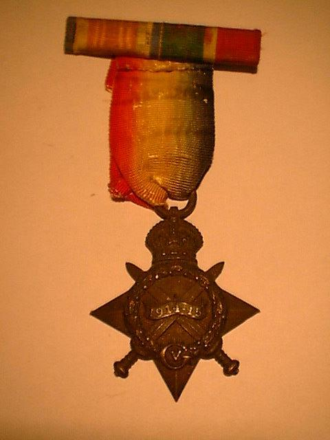 1914-15 Star with Ribbon