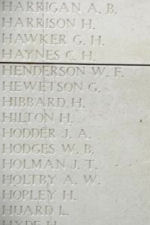 Inscription– Menin Gate panel where Private Norman Pearson is commemorated.  Photo by BGen Young (ret) and submitted by Capt (ret) V Goldman of the 15th Bn Memorial Project.  DILEAS GU BRATH