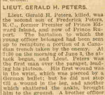 Newspaper clipping– Charlottetown newspaper report on Gerald's death