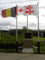 Memorial Plaque– The memorial on Observatory Ridge was unveiled and dedicated on 22 October 2011 to commemorate the actions of the 15th Battalion CEF (48th Highlanders of Canada) on 3 June 1916 during the Battle of Mount Sorrel.  Photo by BGen (ret) G Young and submitted by Capt (ret) V Goldman of the 15th Bn Memorial Project.