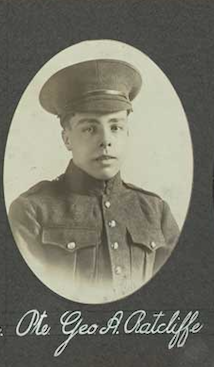 Photo of GEORGE ALFRED RATCLIFFE– In memory of the employees of the T. Eaton Company that went to war and did not come home.  Submitted for the project, Operation: Picture Me