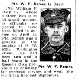 Photo of WILLIAM FREDERICK REMES– From the Toronto Star. Submitted for the project, Operation: Picture Me