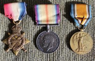 Medals– 1914-15 Star, British War Medal, and Victory medal to #McG 214 H.A. Raich, PPCLI.