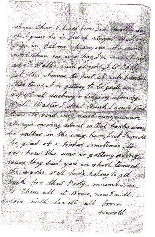 Letter 2 (Back)