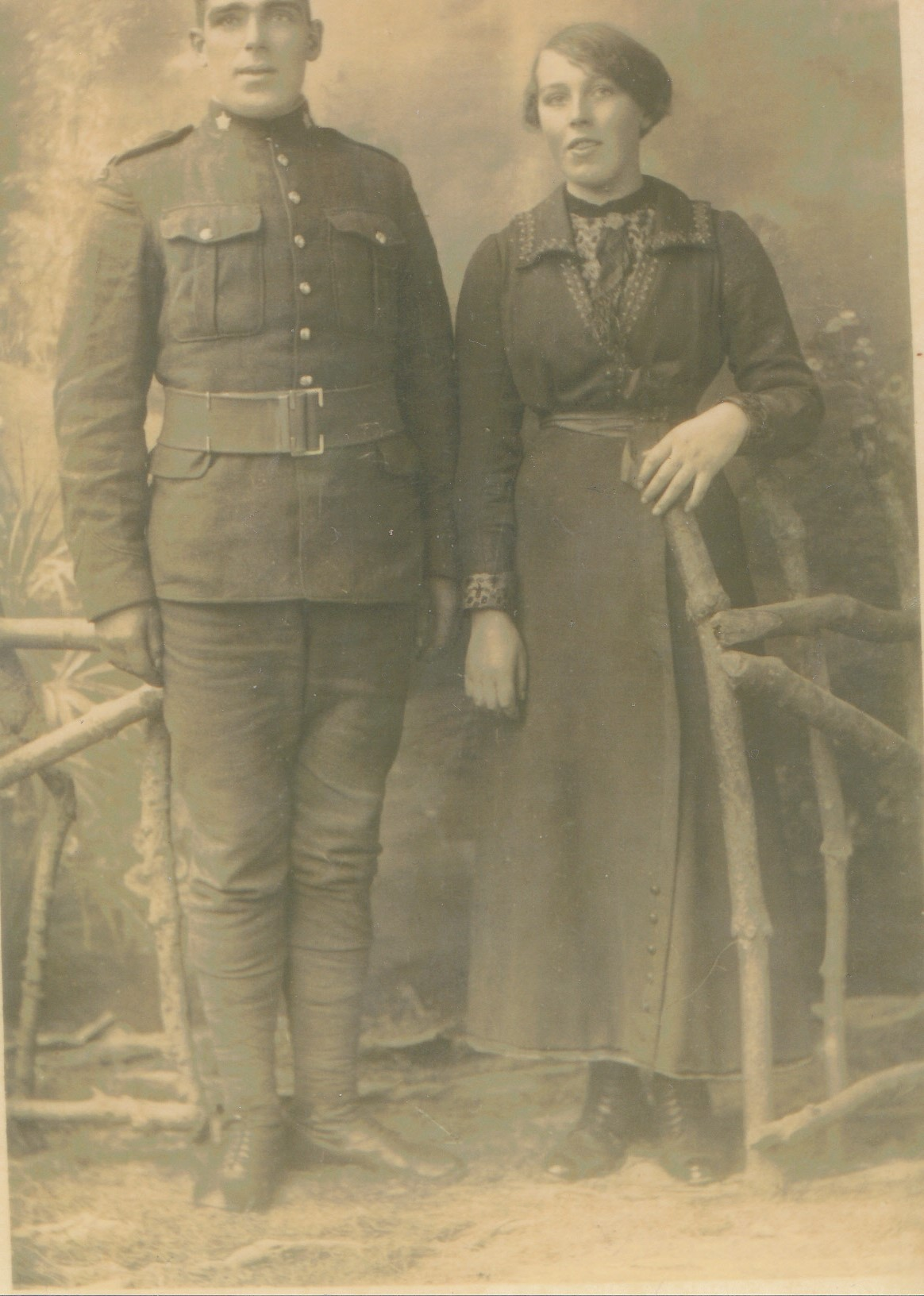 Group Photo– George Gardiner Ross, Served as Gardiner, with sister Libby. Taken prior to shipping out to Belgium 1917