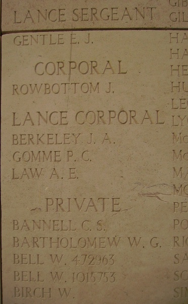 Inscription on Menin Gate Memorial