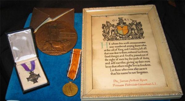 Memorial Cross and Letter