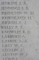 Inscription– Menin Gate panel where Private Alexander Russell is commemorated.  Photo by BGen Young (ret) and submitted by Capt (ret) V Goldman of the 15th Bn Memorial Project.  DILEAS GU BRATH
