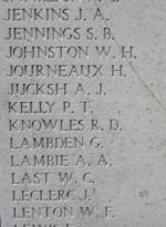 Inscription– Menin Gate panel where Private Harold Rutherford is commemorated.  Photo by BGen Young (ret) and submitted by Capt (ret) V Goldman of the 15th Bn Memorial Project.  DILEAS GU BRATH