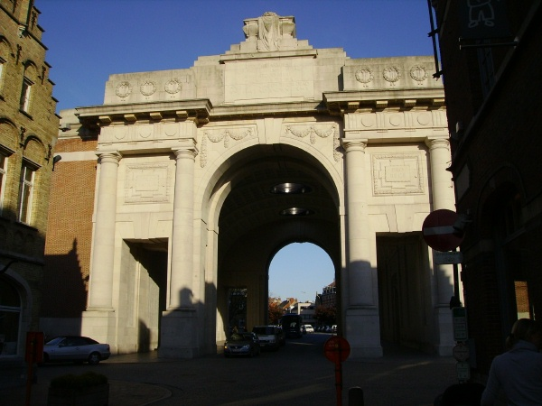 Photo of GEORGE SAGER– Menin Gate … photo courtesy of Marg Liessens