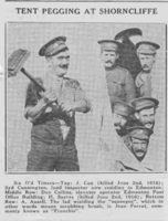 Photo of HARRY SAYERS– From the Loyal Edmonton Regimental magazine the Fortyniner.  Submitted for the project, Operation Picture Me