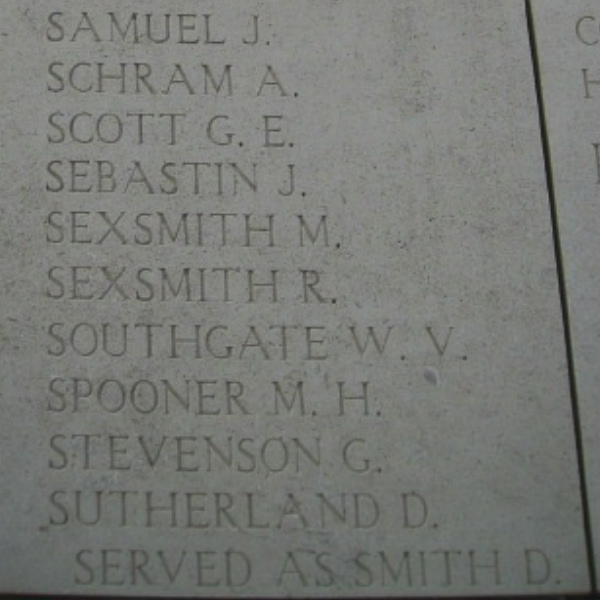 Inscription on Menin Gate Memorial– Inscription on the Menin Gate … photo courtesy of Marg Liessens
