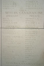 Inscription– Panel on Menin Gate memorial Courtesy of Wilf Schofield, England, 2009.