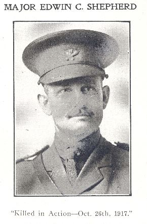 Photo of Edwin Charles Shepherd– Source: North Bay's Normal School Yearbook, 1918-1919, page 40