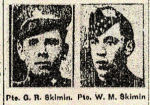 Newspaper clipping– Pte. Walter Skimin's brother was also killed during the first World War. Pte. Garnet Redvers Skimin, 681260, 20th Battalion, Central Ontario Regiment, died on July 15th, 1917.