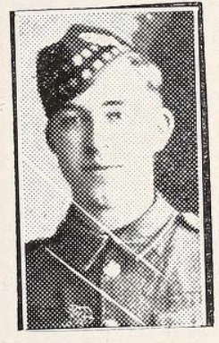 Photo of WALTER MORLAND SKIMIN– Photo from the National Memorial Album of Canadian Heroes c.1919. In memory of the members of the 15th, 92nd and 134th Battalions (48th Highlanders) who went to war and did not return. Submitted for the project, Operation: Picture Me.