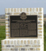 Memorial– One of two memorial plaques dedicated on 24 April 2010 to commemorate those members of the 15th Battalion (48th Highlanders of Canada) who fell during the 2nd Battle of Ypres 22-26 April 1915.  This memorial is located on Gravenstafel Ridge