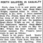 Newspaper Clipping– From the Renfrew Mercury for 11 June 1915.