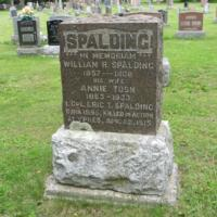 Memorial– Gravestone of Eric's parents.  Please note that Eric's middle name is Tosh not Josh or Yosh.  His correct name is Eric Tosh Spalding.