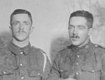 Group photo– Photo of Frank and Alex Sproule who emigrated to Canada in May 1910 and enlisted in 1915. Frank died at Vimy Ridge and Alex at Mt. Sorrel.
