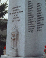 War Memorial– War Memorial Killarney, Manitoba