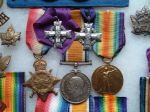 Medals– The collection of medals related to Lieut. L. DeK. Stephens: The 1914-15 Star, British War and Victory Medals and TWO Memorial Crosses, still together. This being very rare as one was awarded to the wife and the other to the mother of Laurence Stephens after the Great War.