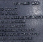 Inscription– William Steele Thompson. Named on War Memorial Bushmills, Co. Antrim, Northern Ireland. Photograph taken 7th Feb 2008
