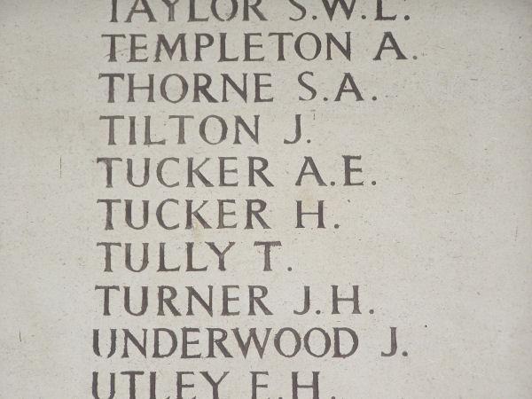 Closer view of Inscription