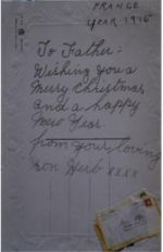 Post card– Card to his father -  Edward White