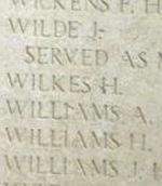 Inscription– Menin Gate panel where Private Henry Wilkes is commemorated.  Photo by BGen Young (ret) and submitted by Capt (ret) V Goldman of the 15th Bn Memorial Project.  DILEAS GU BRATH