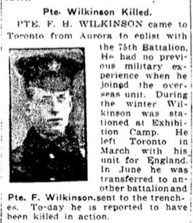 Photo of FREDERICK HOSEA BARTON WILKINSON– From the Toronto Star. Submitted for the project, Operation: Picture Me