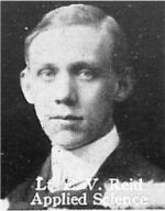 Photo of Ellis Reid– From: The Varsity Magazine Supplement published by The Students Administrative Council, University of Toronto 1916.   Submitted for the Soldiers' Tower Committee, University of Toronto, by Operation Picture Me.