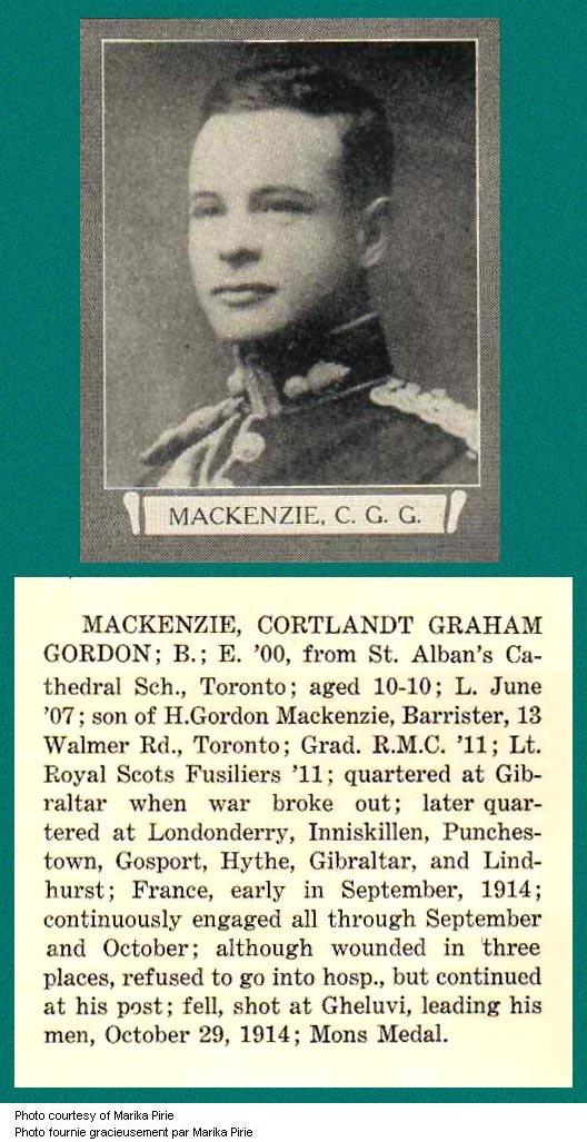 Photo de Cortlandt Graham Gordon Mackenzie