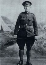Photo of WILLIAM HARNETT– My great-Uncle, Private William Harnett. This photo was taken in St. John's, Newfoundland when he enlisted with the Royal Newfoundland Regiment on July 28, 1917.