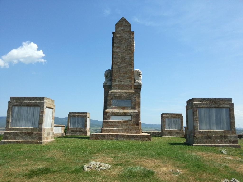 Memorial– Dojran Memorial where Cavers name is recorded.