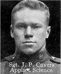 Photo of James Cavers– From: The Varsity Magazine Supplement published by The Students Administrative Council, University of Toronto 1916.   Submitted for the Soldiers' Tower Committee, University of Toronto, by Operation Picture Me.
